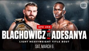 Bet on UFC 259 Blackhowicz VS Adesanya