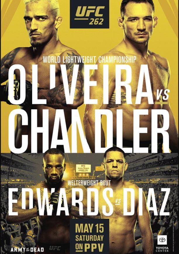 Bet On UFC 262 Oliveira Vs Chandler