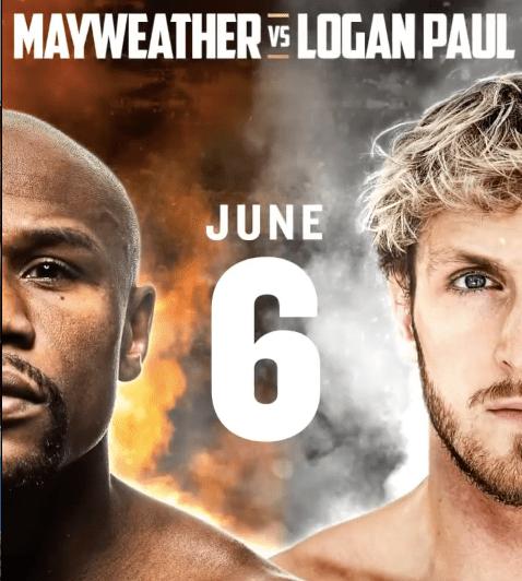 Bet on Mayweather Vs Logan Paul Boxing Card June 6th