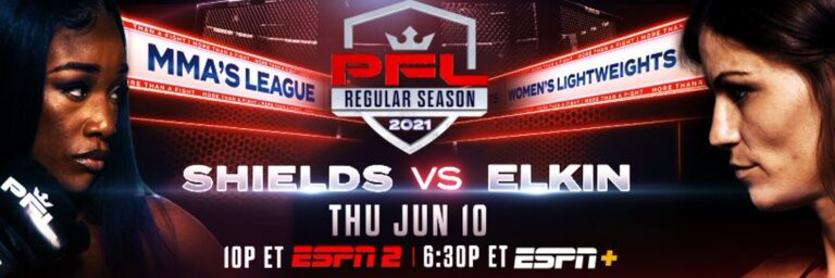 Bet On PFL 4 Claressa Shields vs Brittney Elkin Official Fight Poster