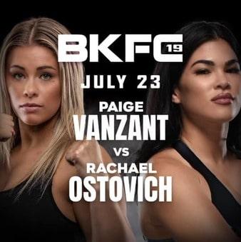 Bet on BKFC 19 Pige VanZant Vs Rachael Ostovich Bet on BKFC UK, Canada
