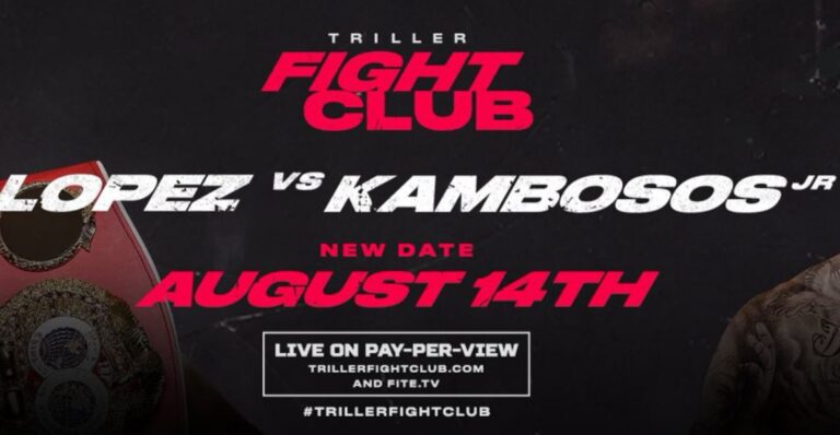 Bet on Lopez Vs Kambosos Triller Boxing Fight WBO IBF WBA