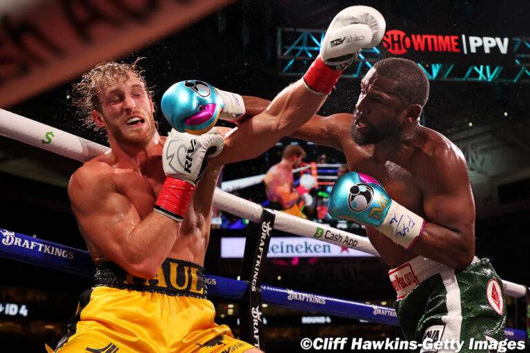Floyd Mayweather Logan Paul Boxing Fight Ends in A Draw