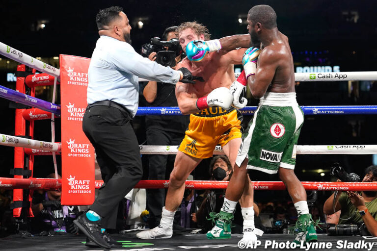 Logan Paul survives all 8 rounds against Floyd Mayweather