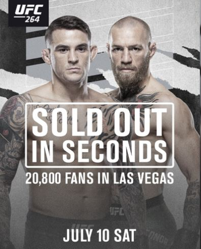 Bet on UFC 264 Conor McGregor Vs Dustin Poirier 3 UFC Fight | MMA Bets | UK & Canada | Free Bets