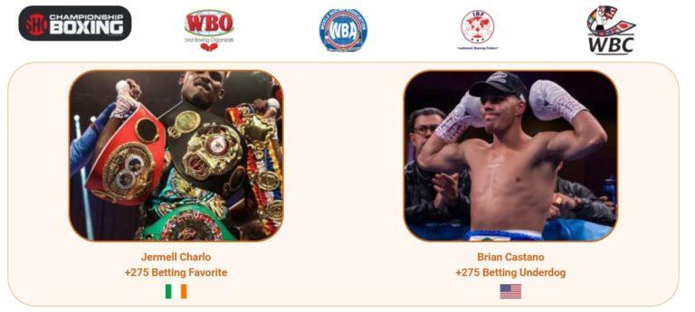 et on Jermell Charlo vs Brian Castano Boxing Fight WBC IBF WBO WBA