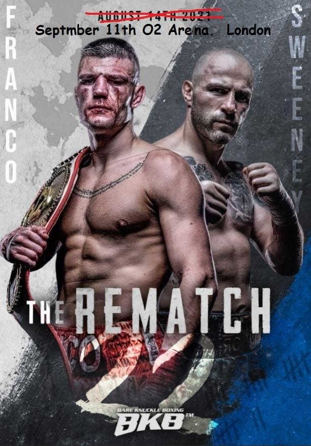 Bet on BKB Bare Knuckle Boxing Franco Vs Sweeney 2