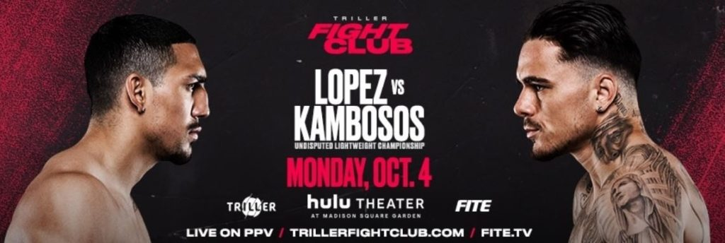 Bet on Lopez Vs Kambosos Fight | Bet on Triller Boxing | Bet on Lopez | Best Boxing Betting Sites