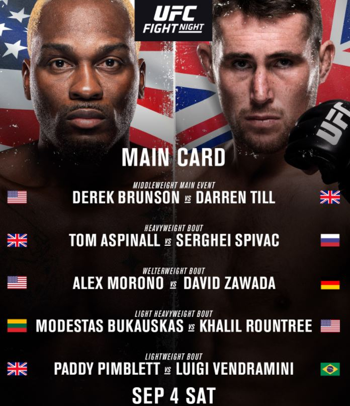 Bet on Darren Till Vs Derek Brunson | Bet on UFC Fights | Best Bonuses & Free Bets