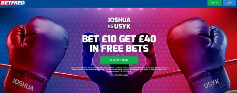Betfred Boxing Betting Bonus Bet on Boxing Fights