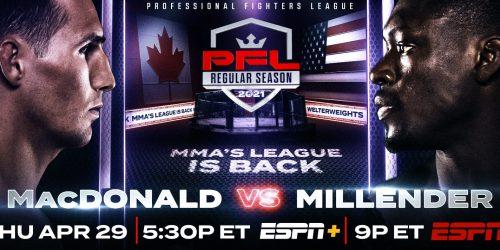 Bet on PFL Week 2 MacDonald Vs Millender