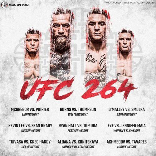 Bet on UFC 264 McGregor Vs Poirier 3 and Thompson Vs Burns