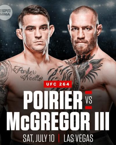 Bet on Connor McGregor vs Dustin Poirier 3 UFC 264