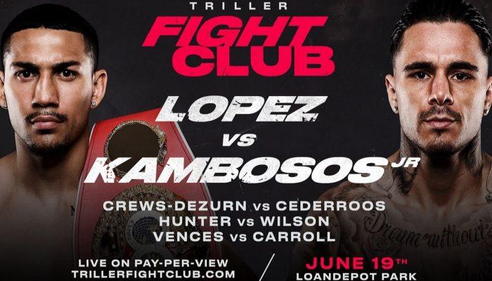 Bet on Triller Boxing Teomifo Lopez Vs George Kambosos Jr June 19th