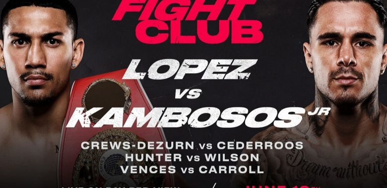 Bet on Triller Boxing Teofimo Lopez Vs George Kambosos Jr June 19th